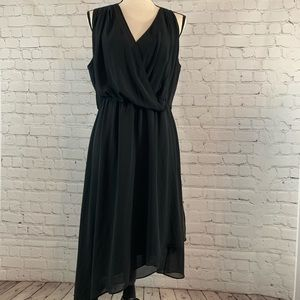 Haute Hippie long black formal cocktail dress sz L